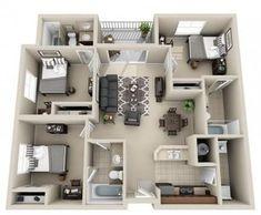 apartment floor plans 58 Ideas Apartment Layout Ideas Floor Plans Dream Homes Model House Plan, Sims House Plans, House Layout Plans, Dream House Plans, House Layouts, Small House Plans, House Floor Plans, Apartment Layout, Apartment Design