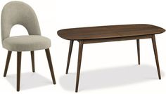 Bentley Designs Oslo Walnut Dining Set - 6-8 Extending Table with Linen Fabric Chairs
