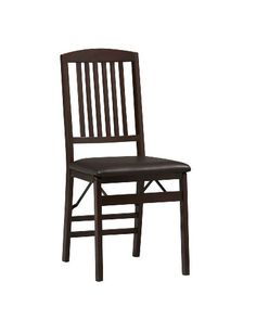 Stylish seating with the #convenience of a folding chair.  This pair of folding chairs adds an extra dash of elegance for dining or entertaining.  The wood frame...