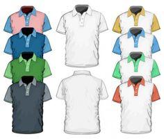 shortsleeve tshirt template 02 vector