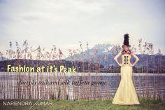 Fashion at it's Peak : sharply tailored silk taffeta gown #SwissCalendar2014 #SilkGown