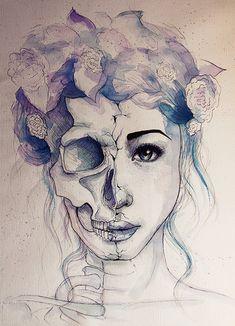 Efimera belleza  #art  #painting  #skull