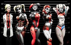 Harley Quinn Line Up 11x17 Print by Epicwee on Etsy