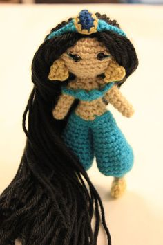 Jasmine Disney Princess Crochet Doll Amigurumi by Sahrit on Etsy, $45.00