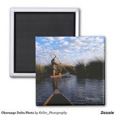 Okavango Delta Photo 2 Inch Square Magnet