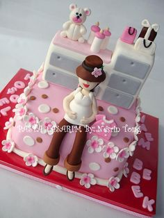 BABY SHOWER CAKE - BABY SINEM by PASTA TASARIM, via Flickr