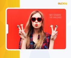 """Diseño y desarrollo de campaña promocional en Instagram para Filipinos """"We Share the Challenge"""" Round Sunglasses, Challenge, Creative, Instagram, Style, Fashion, Innovative Products, Creativity, Swag"""