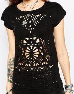 Image 3 - Rock & Religion - T-shirt découpé au laser