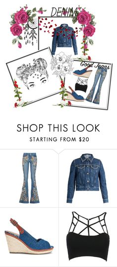 """""""💙🌸I've died and gone to Denim heaven💙🌸"""" by maijah ❤ liked on Polyvore featuring Alice + Olivia, Miu Miu and WithChic"""