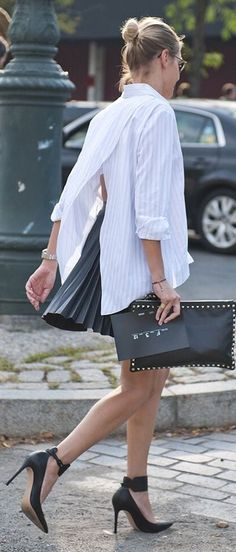 Pleats And Stripes Outfit