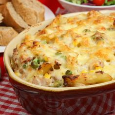 It's tuna time. This mushroom and tuna casserole is a cream lover's dream. When you don't have the time to whip up a five-course meal, whip up all of your courses in one divine dish.