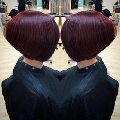 Reverse Bob Haircut, Bob Haircut Black Hair, Aline Haircuts, Bob Haircuts For Women, Wedge Hairstyles, Long Bob Hairstyles, Long Aline Haircut, Short Hair Styles, Natural Hair Styles