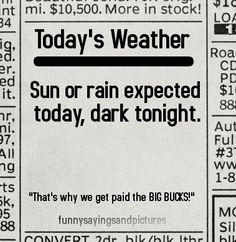 Funny Sayings and Pictures: Today's Weather