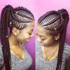 Trendy Braided Hairstyles 2018 : Alluring Styles You Need to Try Afro Braids, African Braids Hairstyles, Braided Hairstyles, Hairstyles 2018, Black Girl Braids, Braids For Black Hair, Girls Braids, Afro Hair Salon, Hair Salons