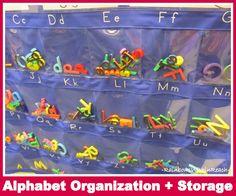 Alphabet Organization + Storage (Organizational RoundUP via RainbowsWIthinReach)
