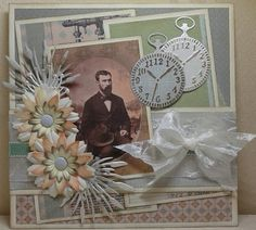 Marjan's scrapkaarten Vintage Shabby Chic, Shabby Chic Style, Diy And Crafts, Paper Crafts, Vintage Scrapbook, Beautiful Handmade Cards, Marianne Design, Masculine Cards, Craft Items
