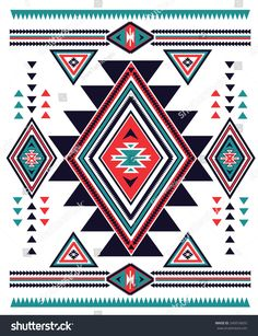 Find Navajo Aztec Big Pattern Vector Illustration stock images in HD and millions of other royalty-free stock photos, illustrations and vectors in the Shutterstock collection. Native Beading Patterns, Indian Patterns, Tribal Patterns, Quilt Patterns, Native American Patterns, Native American Beadwork, Native American Art, Motif Navajo, Navajo Pattern