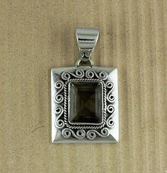 Pendants Smoky Quartz Gemstone Solid 925 Sterling Silver Jewelry Handmade 16.6 g #Unbranded #Pendant