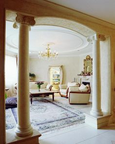 modern home interiors with functional and decorative columns and pillars