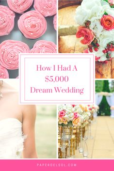 How I planned a $5000 wedding in Southern California that was unforgettable! Have a beautiful wedding for under $5,000! These are the tricks I used to have a wedding under $5,000 for 130 guests!