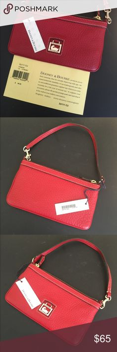 Rooney & Bourke Wristlet Red Brand new unused Dooney & Bourke Red Wristlet. Tags still on. Dooney & Bourke Bags Clutches & Wristlets