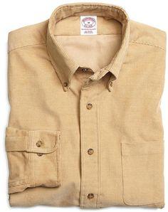 Regular Fit Corduroy Sport Shirt