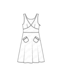 burda style, burda style Magazin Schnitt, Sommerkleid - Taillienpasse 05/2013 #124, Ärmelloses Kleid mit spitz nach oben laufender Passe in der Taille und zwei schräg aufgesetzten Taschen vorne. Sie brauchen: Popeline, 150 cm breit: 1,80 – 1,80 – 1,85 – 1,85 – 1,90 m. Kontrastfarbenes Paspelband: 0,30 m. 1 Nahtreißverschluss, 40 cm lang u. Spezial-Nähfuß. Stoffempfehlung: Leichte Kleiderstoffe mit etwas Stand. Style Magazin, Apron, Fashion, Poplin, Bags, Moda, Fashion Styles, Fashion Illustrations, Aprons