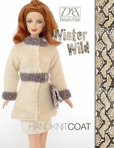 Knitting pattern for 11 1/2 doll Barbie: by DBDollPatterns on Etsy ☆