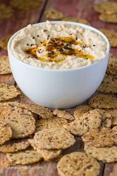 Smoky Chipotle Hummus Recipe - goes great with crackers and makes a perfect summertime recipe!