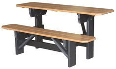 5' Folding Picnic Table - Makes into 1/2 of picnic bench