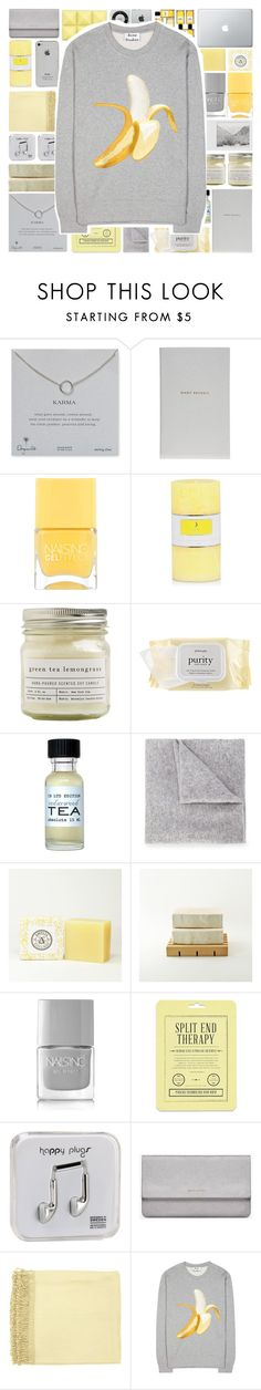 """Banana"" by stelbell ❤ liked on Polyvore featuring Dogeared, Smythson, Polaroid, Chanel, Nails Inc., Brooklyn Candle Studio, philosophy, CB I Hate Perfume, Lucien Pellat-Finet and Love 21"