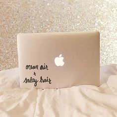 Ocean Air And Salty Hair  Vinyl Decal  Laptop Decal Macbook Decal Laptop Stickers by moonandstarco on Etsy
