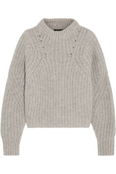 Isabel Marant | Newt oversized mélange ribbed-knit sweater | NET-A-PORTER.COM