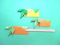 """折り紙笹の葉の箸袋の折り方作り方 創作 Chopsticks bag origami of bamboo leaf <iframe src=""""//www.youtube.com/embed/xs2u9vU5ZcQ?feature=player_embedded"""" width=""""..."""