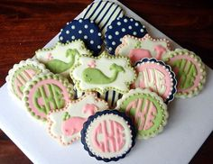 This site has the CUTEST cookies!!! Keeping for when I might become an aunt... Baby Shower!!
