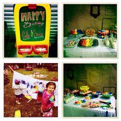 Wee Warhol Art Birthday Party Rainbow