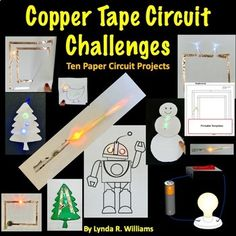 Copper Tape Paper Circuits STEM Challenges by Lynda R Williams Stem Science, Teaching Science, Science For Kids, Science Experiments, Mad Science, Physical Science, Teaching Ideas, Science Ideas, Science Classroom
