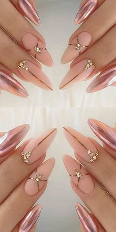 Stunning Stiletto Nail Ideas that Will Rock Your World in 2020 -- (paid link) Click on the image for additional details. Chic Nails, Glam Nails, Dope Nails, Bling Nails, Stylish Nails, 3d Nails, Beauty Nails, Almond Acrylic Nails, Pink Acrylic Nails