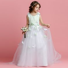 >> Click to Buy << Kids girl wedding dress teenagers Customized fashion dress  floral children party princess dress o-neck ball gown costume dress #Affiliate