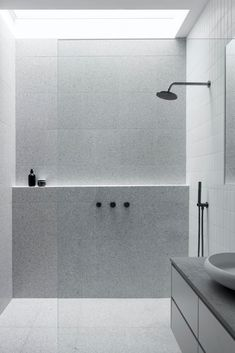 Ensuite Bathrooms, Laundry In Bathroom, Bathroom Renos, Small Bathroom, Light Grey Bathrooms, Luxury Bathrooms, Dream Bathrooms, Bathroom Faucets, Minimalist Bathroom Design