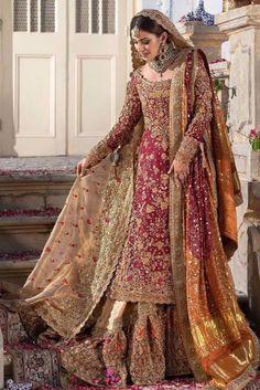 Farah Talib Aziz Bridal Wear Pakistani Wedding Dresses 2020 [Latest] - Latest Fashion Styles & Trends Source by efashionlady dresses 2020 Latest Bridal Dresses, Pakistani Wedding Outfits, Wedding Dresses For Girls, Bridal Outfits, Pakistani Dresses, Indian Dresses, Indian Outfits, Pakistani Clothing, Wedding Hijab