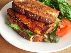 Smoky Maple Tofu Sandwich via I Love Vegan