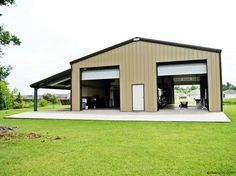 Ironbuilt provides prefab metal garages and steel garage kits sold direct at the lowest prices. Our garage steel buildings are manufactured and shipped with lifetime fasteners. Steel Garage Buildings, Metal Garages, Shop Buildings, Pole Buildings, Storage Buildings, Metal Shop Houses, Metal Shop Building, Steel Building Homes, Building A House