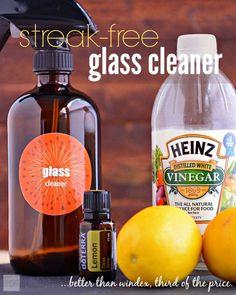 Streak-Free Homemade Glass Cleaner