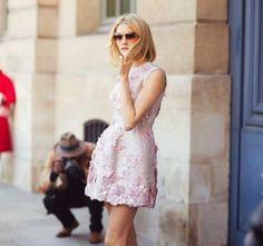 minidress rosa flores