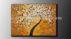 original grande abstrata contemporânea da árvore da flor textura grossa fina galeria de pintura a óleo