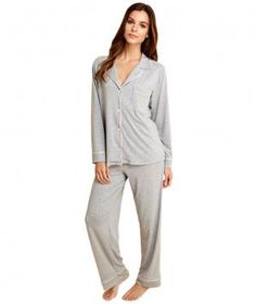 Supremely soft, polished, and comfortable, these sophisticated pajamas are the luxe loungewear you always dreamed about in an easy-to-care-for cotton fabric.
