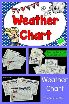 The Weather Chart Packet are monthly graphing activities for both weather visuals and weather temperature. There is also a visual vocabulary.