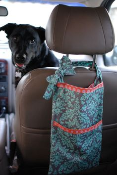 Cute car trash bag DIY