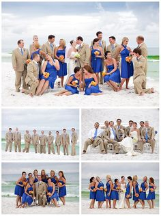 Love the color of the bridesmaids although I could never have a beach wedding lol